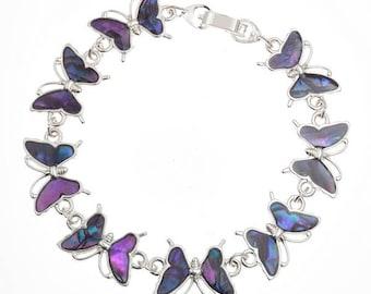 Tide Jewellery Paua Shell Butterfly Bracelet Gift Boxed