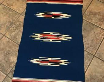 Vintage Ortega Chimayo woven rug / wall hanging