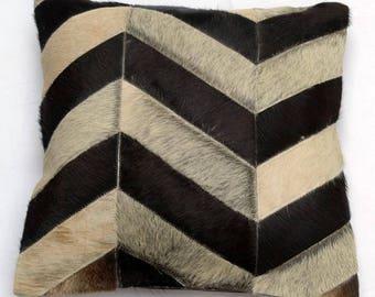 Natural Cowhide Luxurious Patchwork Hairon Cushion/pillow Cover (15''x 15'')a251