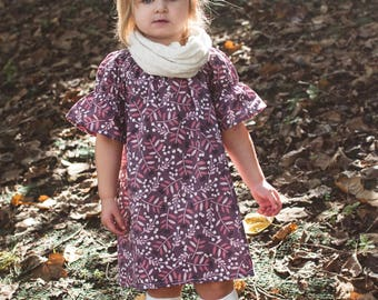 Girls Dress, Girls Fall Dress, Girls Purple Dress, Girls Dresses, Baby Dress, Toddler Dress, Baby Girls Dress, baby purple dress, Fall Outfi