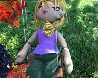 Handmade 12 inch Cloth Doll, Marilyn style