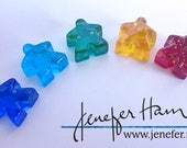 Glass Meeples - SET OF 4!...
