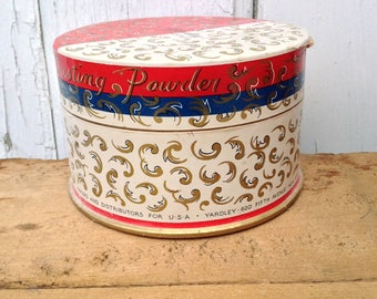 "Vintage Yardley London Dusting Powder and Puff - ""Bond Street"" Scent - Scottsdale Marketplace"