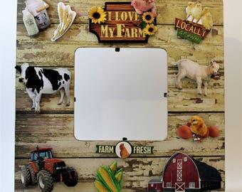Farm Frame/ I love my Farm/Farm Animal Frame/Barn Frame