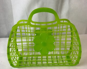 Amazing Pop of Colour Green Cage Bag