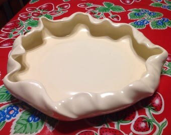 Vintage Poppytrail by Metlox #737 ivory console bowl or planter
