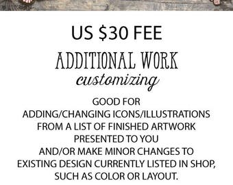 Additional Fee for Revisions or Changes in design.