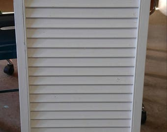 single white shutter - distressed - pick your paint