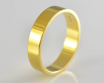 14k Yellow Solid Gold Band Size 11