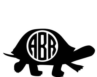 Turtle Decal - Monogram Vinyl Decal - Phone Decal - Computer Decal - Wall Art - Home Decor - Personalized Decal