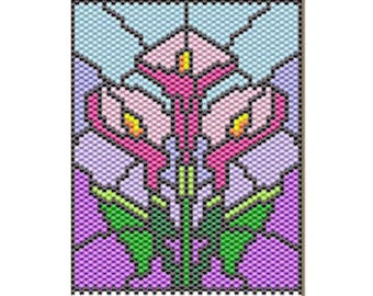 Calla lilies pony bead banner pattern