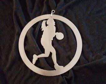 Lady Basketball Player Ornament