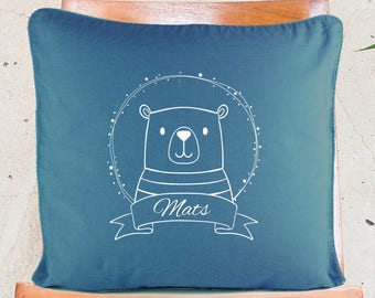"""Personalized Pillow Covers  """"Bear"""" // Pillow Case // Cushion Cover"""