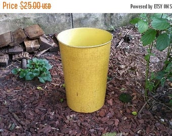 WILL SHIP AUG 23 Vintage Bright Yellow Industrial Waste Basket Nesco