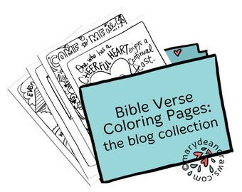 Hand Drawn Bible Verse Coloring Pages Collection From The Marydean Draws Blog