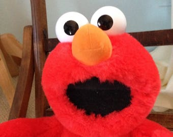 Vintage 1990's Tickle Me Elmo Soft Plush Toy