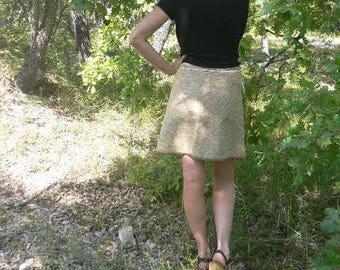 Vanilla - coffee velvet wrap skirt