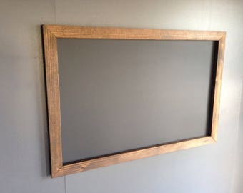 "18"" x 24""   Rustic Framed Chalkboard, Rustic Wedding Chalkboard, Kitchen Menu, Menu Board, Rustic Frame"