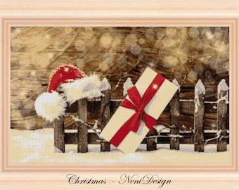 Christmas, cross stitch pattern, christmas pattern, christmas cross stitch, christmas, PDF pattern, instant download!