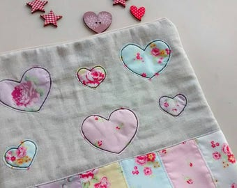Baby toiletries-baby case-baby shower bag-infant gift-modern gift-baptism-pouch with hearts