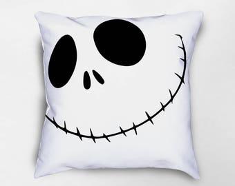 Jack Skellington Pillow, Nightmare Before Christmas, Halloween Throw Pillows, Halloween Pillow, Halloween Decor, Halloween Pillow Cover