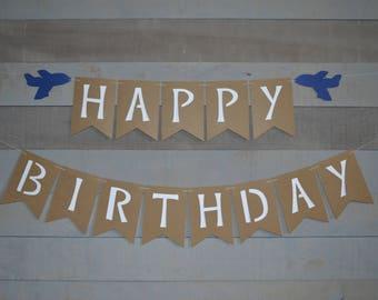 Airplane Birthday Banner, Plane Birthday Them, First Birthday Banner, Birthday Party Decorations