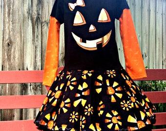 Girls Halloween Jack O Lantern dress Trick or Treat last one size 5T Ready to ship