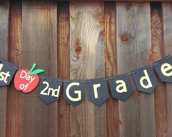 First day of school banner, back to school banner, grade school, photo props, backdrop