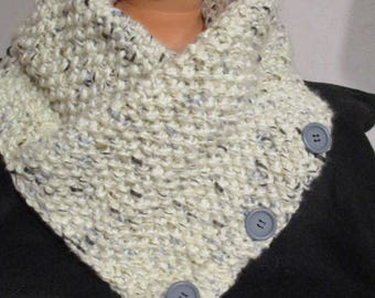 snood handknitted wool