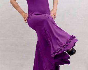 Albai Flamenco Dress, Purple