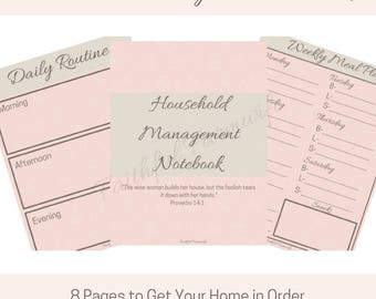 Household Management Notebook