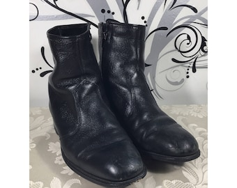 Mens leather boots, Western boots, Goodyear boots, Leather boots, Work boots, Men's boots, Black boots, Roper boots