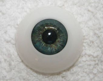 EyEcO EyEs PoLyGLaSs Eyes WoOdLaNd GrEeN 22MM ~ REBORN DOLL SUPPLIES