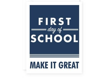 Back to School, First Day of School Card, Take a photo Card Sign, School Supplies, Kids, Students Greeting Cards, Single Card