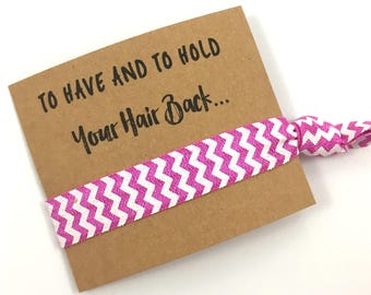 SALE- Hair Tie Bachelorette Party Favors | Bridesmaid Gift | Be My Bridesmaid | Bachelorette | Party Favor | Birthday | Thank You | Hair tie