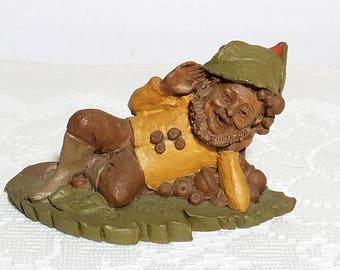 "Vintage Figurine Tom Clark Gnome ""Jeff"" Retired 1983, Autumn Decor Collectible"