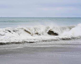 Capo Beach California Photography - Capistrano Ocean Sea Waves Coastal Boho Wall Art Print