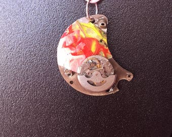 Timepiece and vintage watch movement pendant