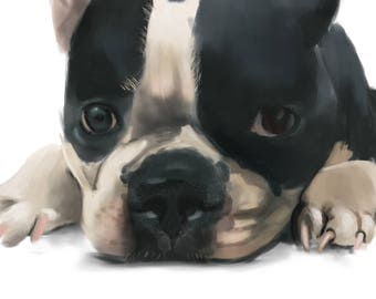 Pet Memorial | Custom Pet Portrait | Pet Portrait | Pet Paintings | Pet Loss Gifts | Pet Painting | Custom Pet Painting