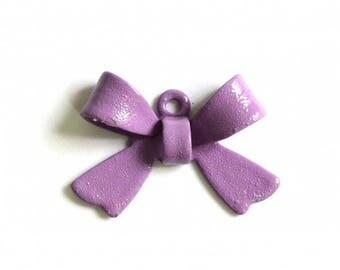 X 1 metal 16mm lilac bow