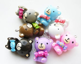 X 1 Teddy bear resin 33mm