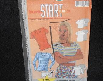 Misses Top Burda 3197 Womens 6-18 Shirt Start III Sewing Pattern Tshirt