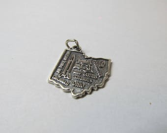 Vintage Sterling Silver State of Ohio Charm W #699