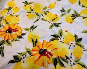 Lemon fabric/Lemon cotton fabric/Lemon prints fabric/summer Lemon table cloth fabric