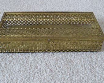 vintage ornate gold tone tissue box holdermetal kleenex box holder decorative tissue box