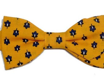 Bowtie Provence yellow sewn by hand with sharp edges