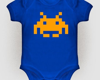 Space invaders baby Bodysuit