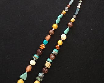 New! Multi Gemstone Plus Necklace