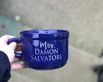 Mrs Damon Salvatore Mug, The Vampire Diaries