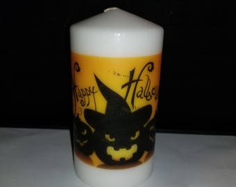5 and a half inch Unique Halloween Decorative  Image Candle